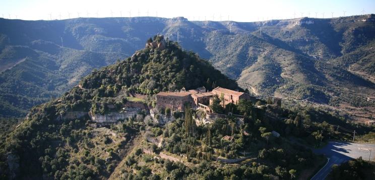Castell_Escornalbou aeri