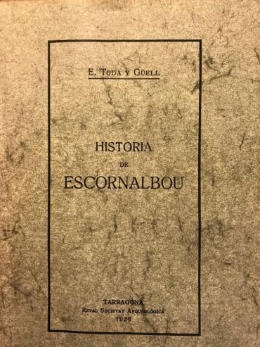 Portada Història d'Escornalbou Eduard Toda