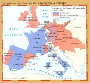 conflicte europeu Guerra de Successió 1700-1713